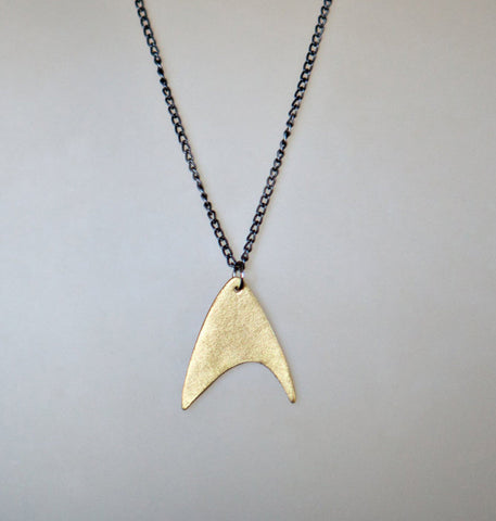 Star Trek Communicator Necklace: Brass