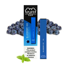 Load image into Gallery viewer, Puff Bar Blueberry Ice Disposable Device