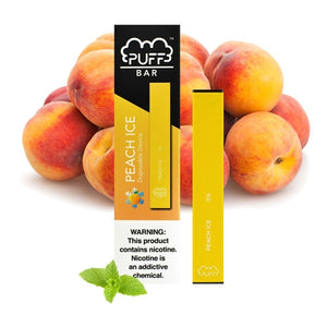 Puff Bar Peach Ice Disposable Device