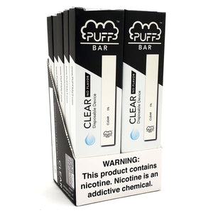 Puff Bar Clear Ice Disposable Device