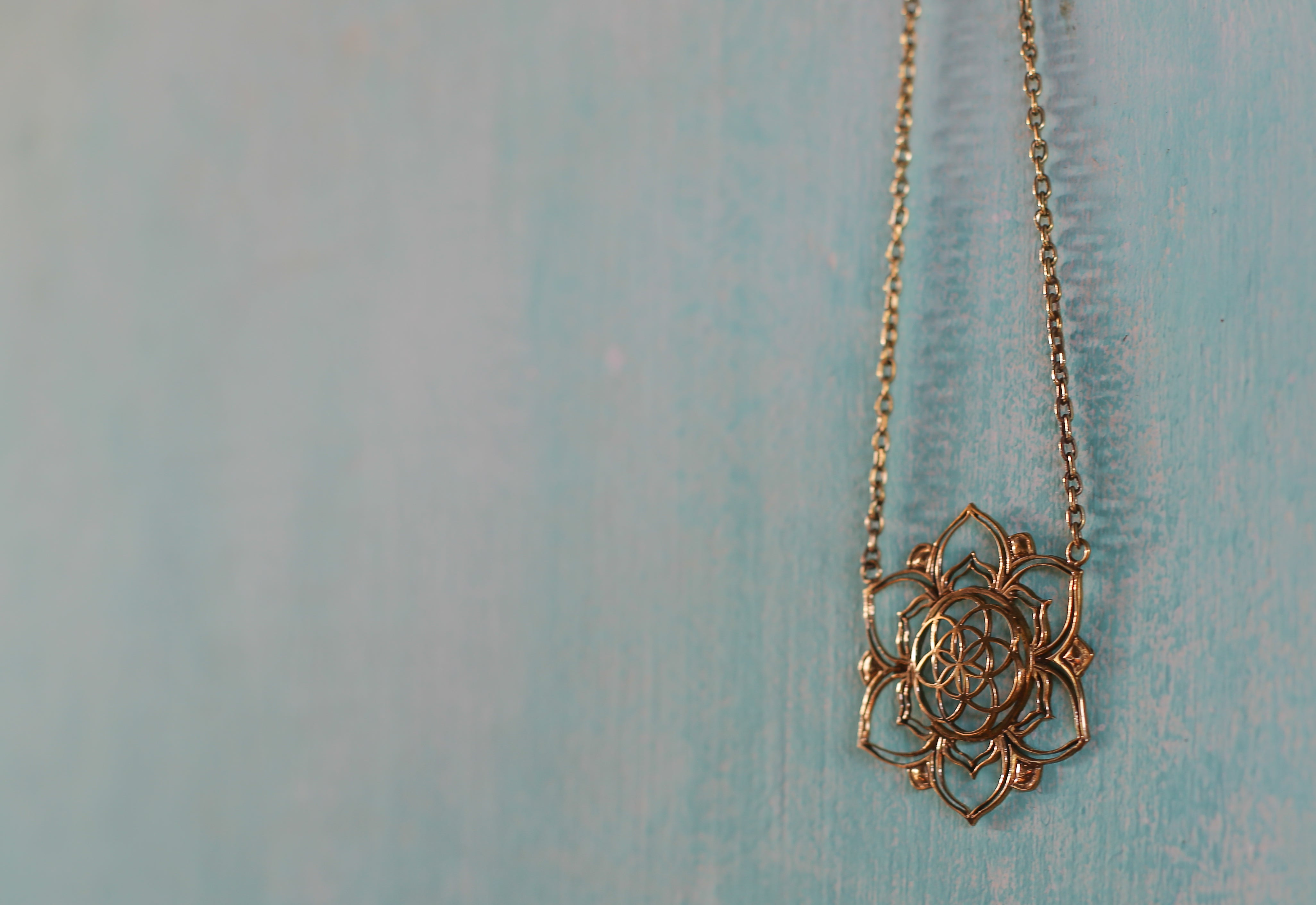 Blooming Seed Of Life Lotus Necklace