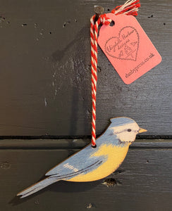 Blue Tit hanging decoration