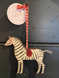 Zebra hanging decoration