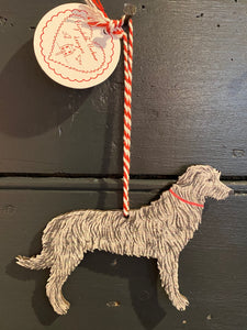 Wolfhound hanging decoration