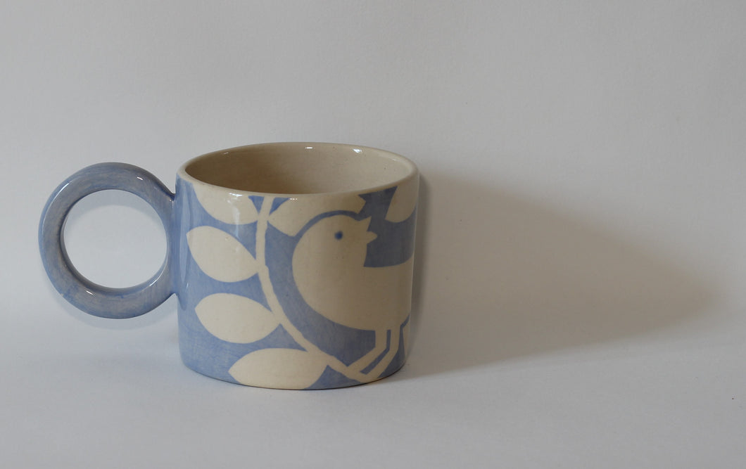 Pale Blue Bird Mug