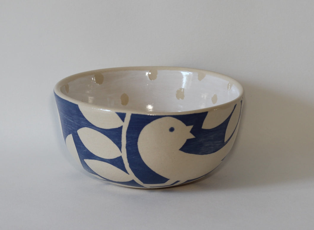 Small Blue Bird Bowl
