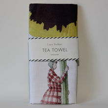 Load image into Gallery viewer, Pansy Tea Towel