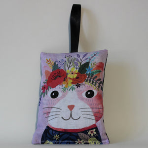 Poppy Cat Lavender Bag