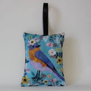 Bird on Blue Lavender Bag