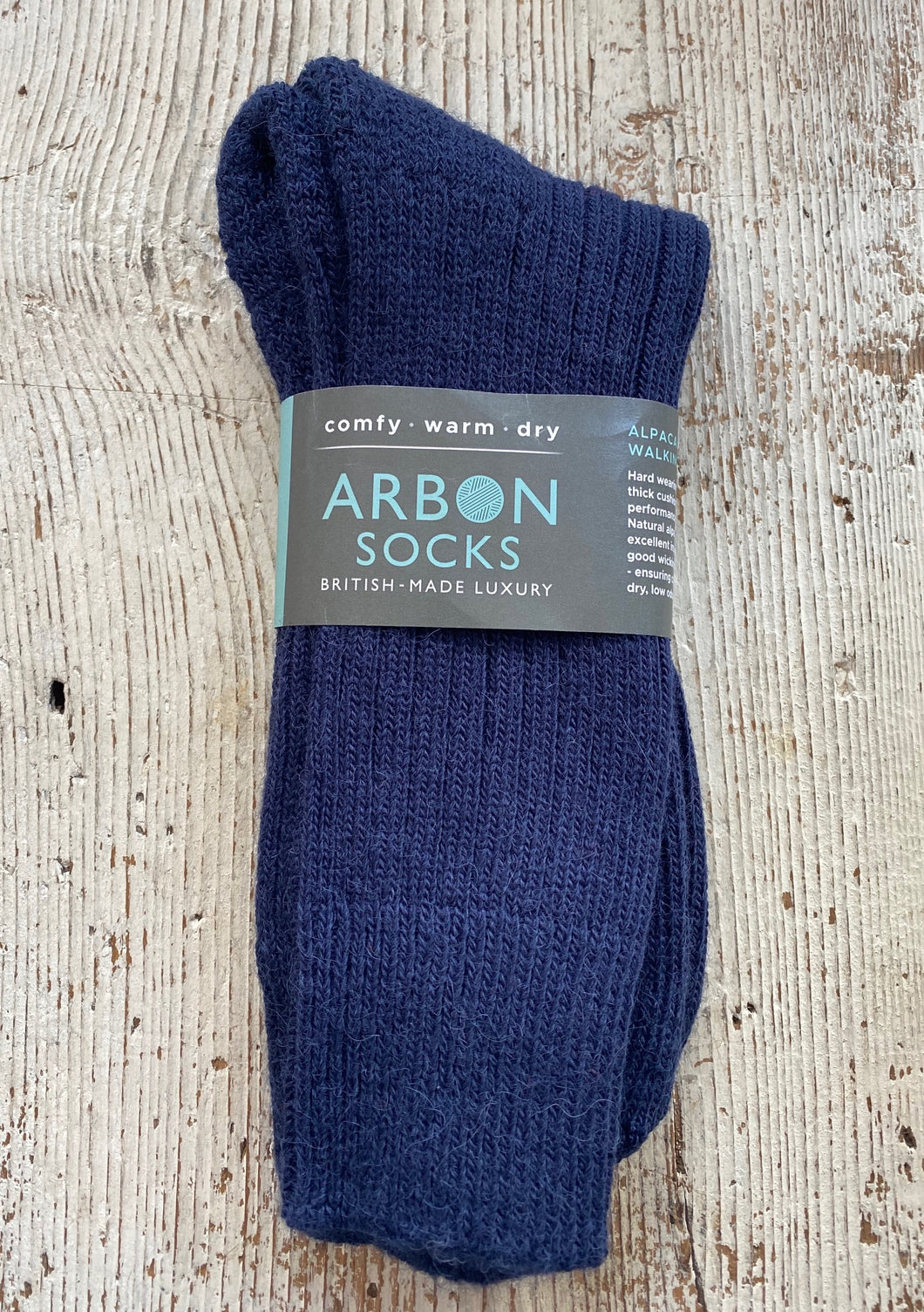 Alpaca Walking Socks - Navy