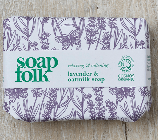 SoapFolk Lavender and Oatmilk organic handmade soap.