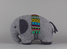 Load image into Gallery viewer, Lambswool Elephant by Sally Nencini