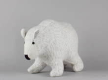 Load image into Gallery viewer, Polar Bear Lambswool Toy by Sally Nencini