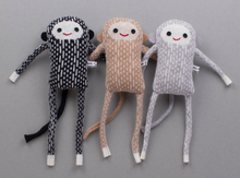 Load image into Gallery viewer, Lambswool Mini Monkey  by Sally Nencini - grey