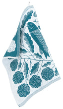 Load image into Gallery viewer, Makoto Kagoshima Linen Cotton Fish Tea Towel - turquoise