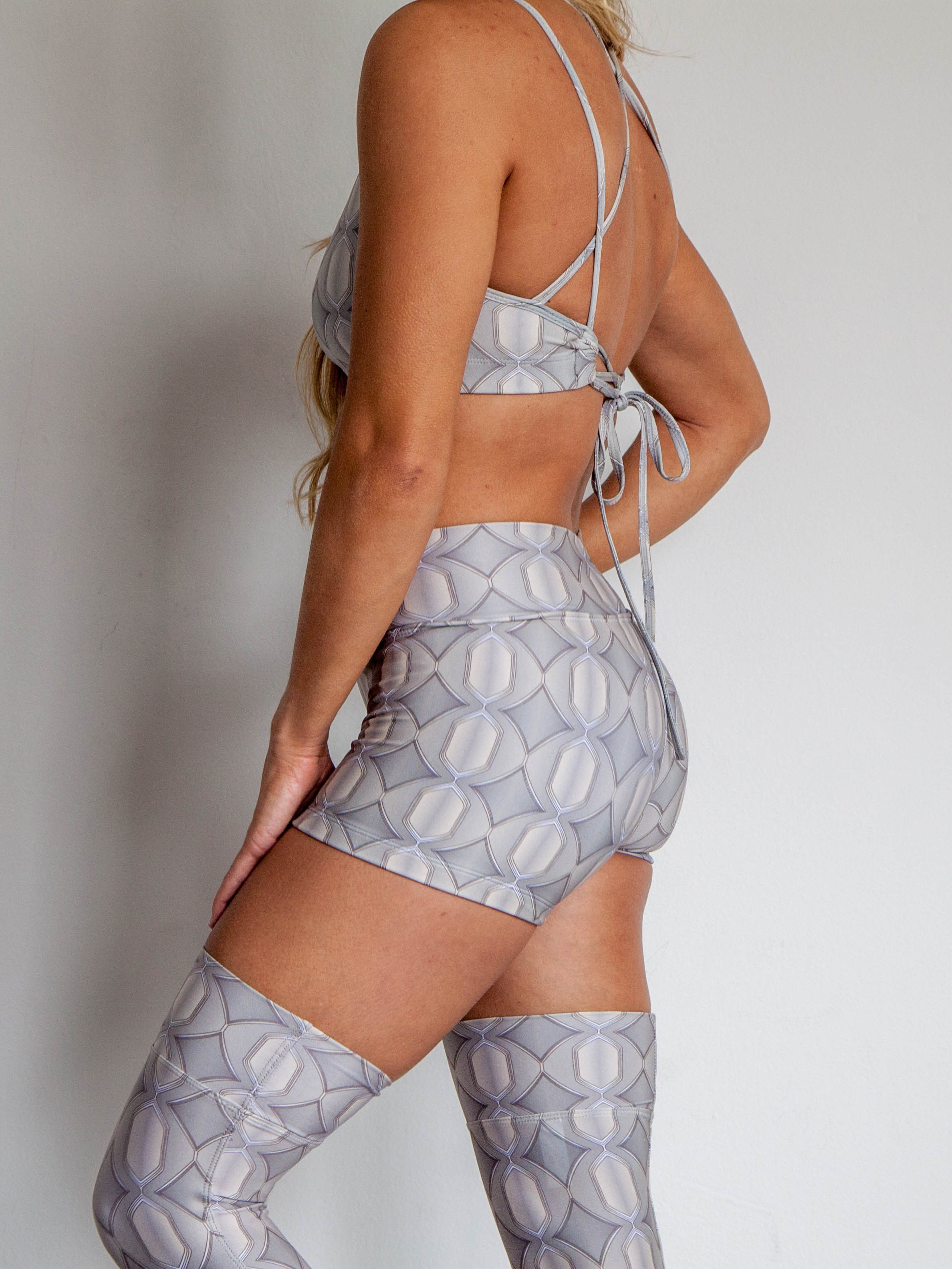 Baja Shorts Grey Persuasion Print
