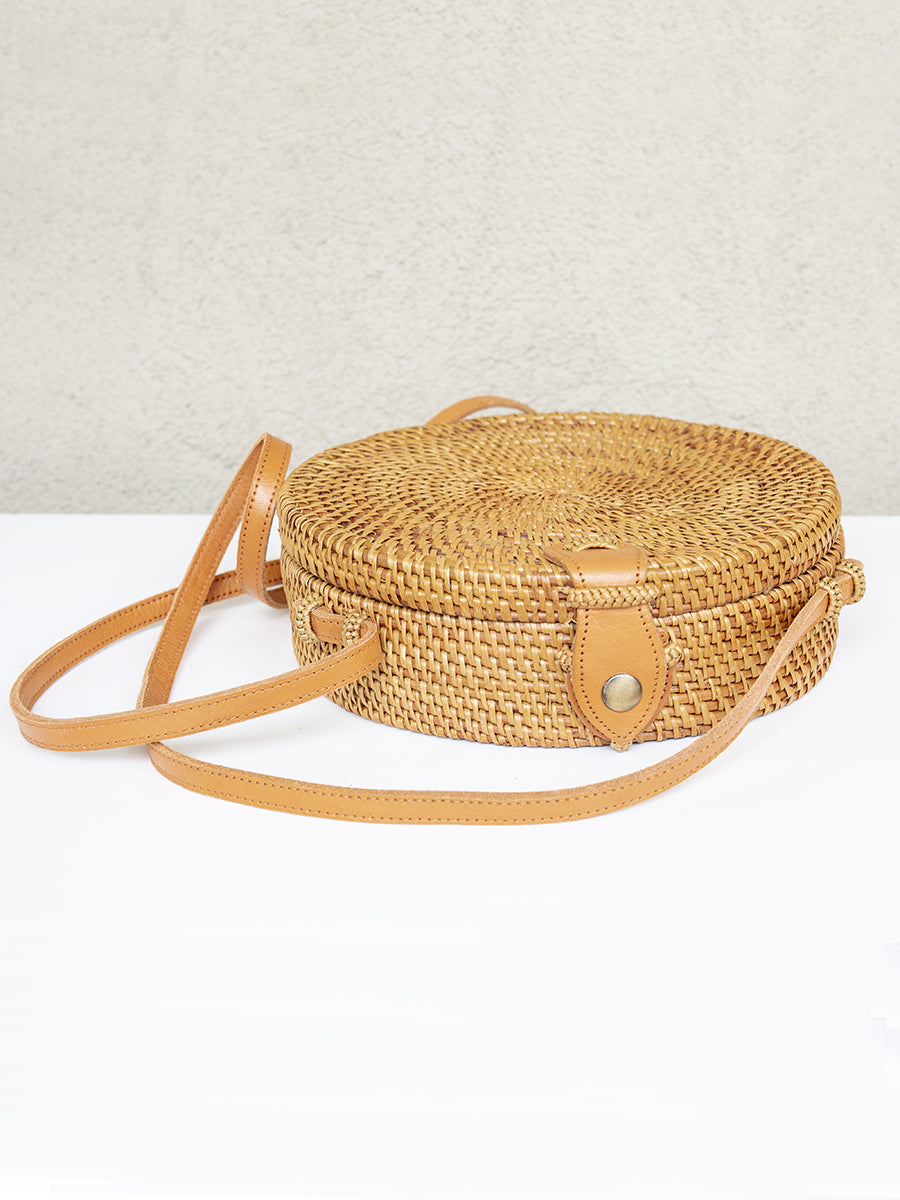 Bali Handwoven Bag Medium Chestnut