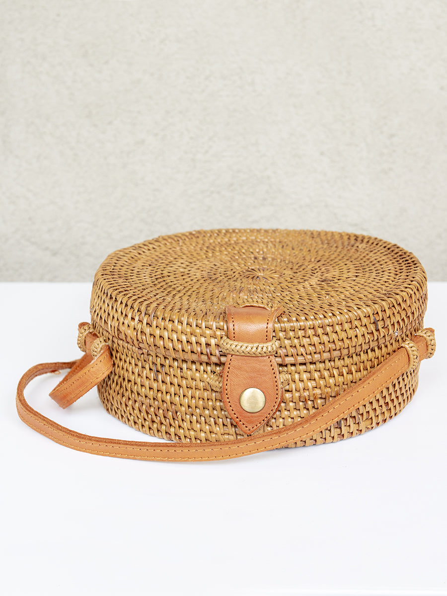 Bali Handwoven Handbag Small Chestnut