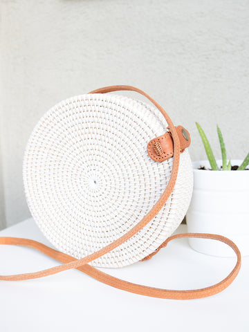 Bali Handwoven Bag Medium White