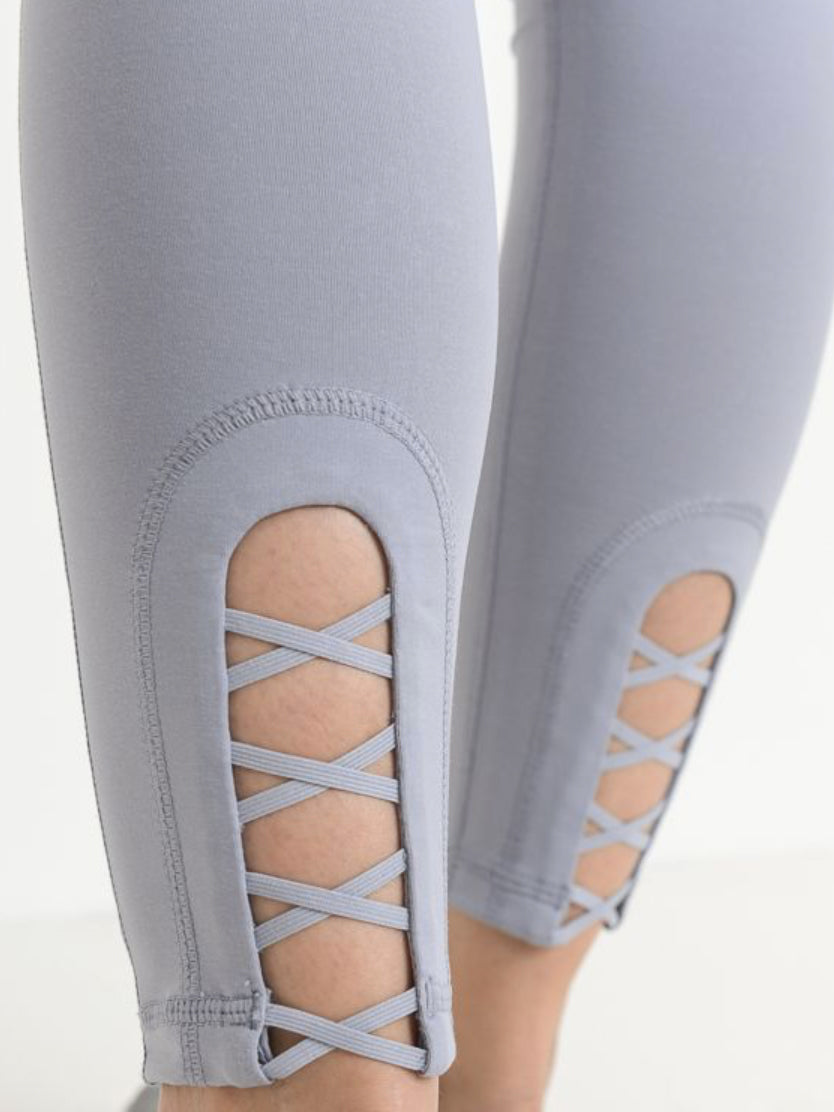 Bondi Criss Cross Ankle Leggings Salt Water Taffy Lavender