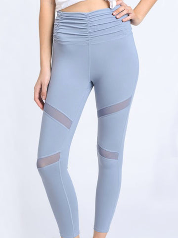 Cabana High Waist Micro Crop Leggings Sky Blue