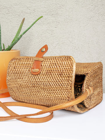 Gili Handwoven Lunchbox Bag Chestnut