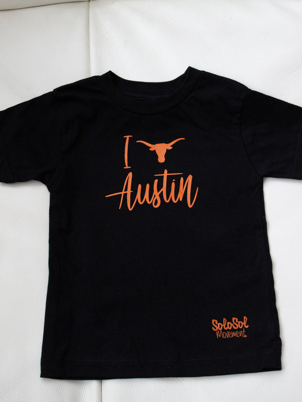 "Kids Baby Graphic Tee ""I Love Austin"" Black"