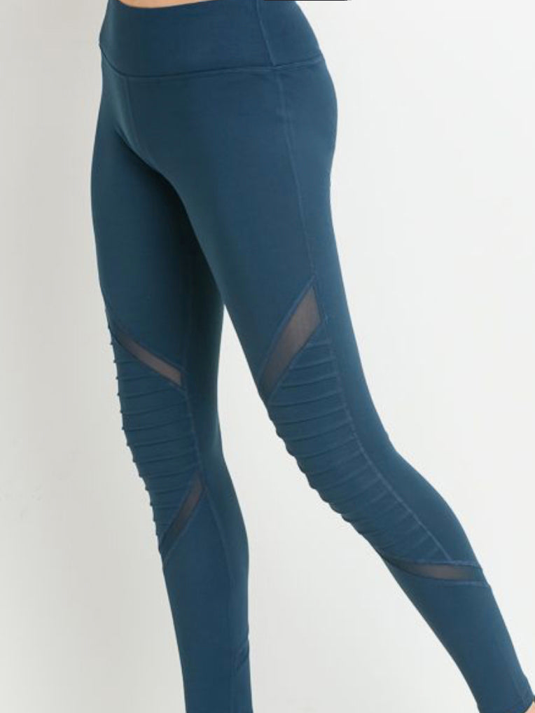 Jetsetter Mesh Leggings Rainforest Teal