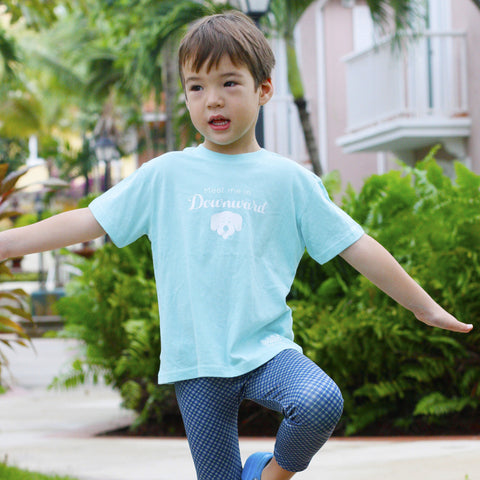 Kids Downdog Tee Sea Foam Green