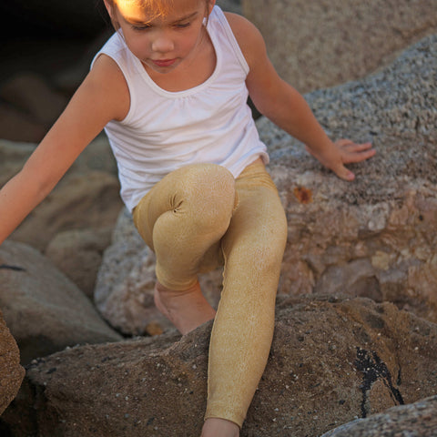 Kids Baja Leggings Gold Icon Print