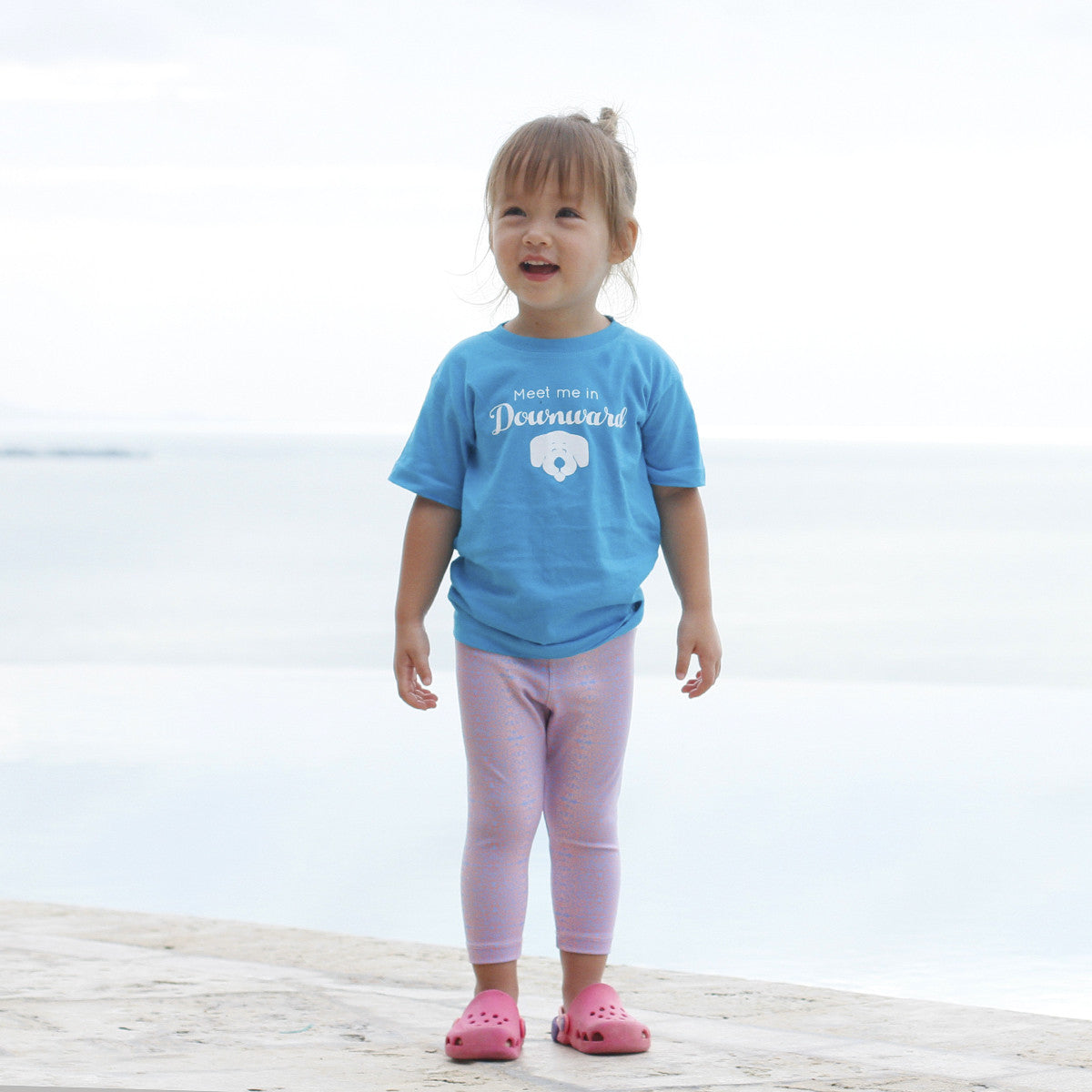 Kids Baja Leggings Pink & Baby Blue Leopard Alpha Print