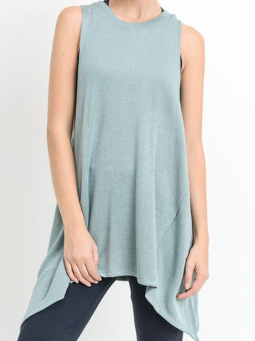 Low Tide Flowy Tank Top Aqua Bay