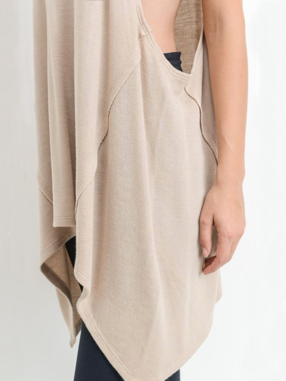 Low Tide Flowy Tank Top Raw Sugar Beige