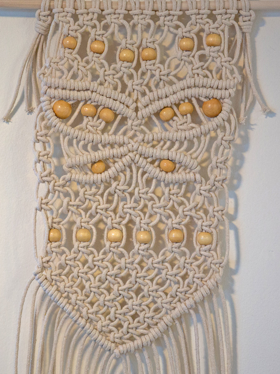 Mariposa Beaded Cotton Macrame Wall Hanging