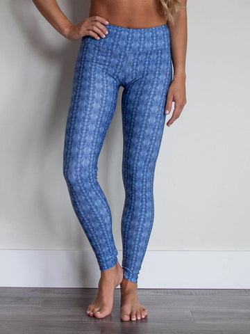 Sol Leggings Blue Solstice Print