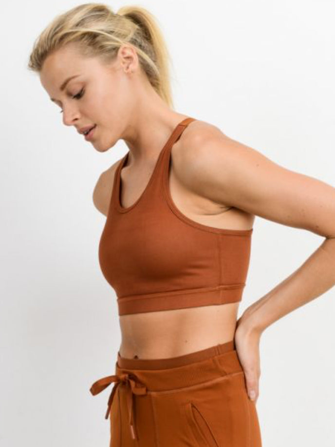 Concession Sports Bra with Adjustable Straps Burnt Orange