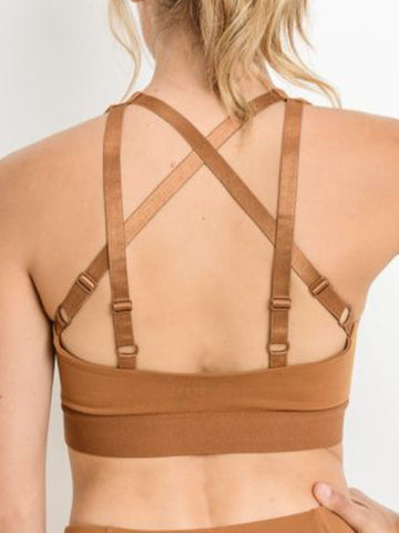 Eastside Criss Cross Sports Bra Copper
