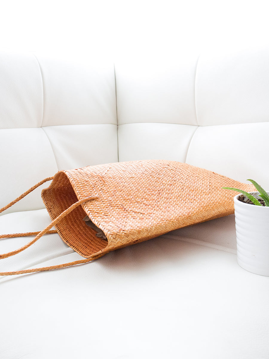 Emma Handwoven Tote Bag Copper