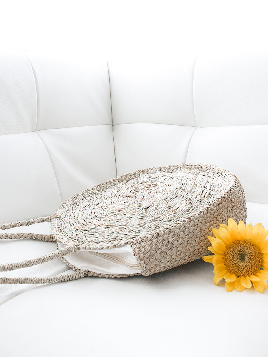 Eva Circular Handwoven Bag Natural
