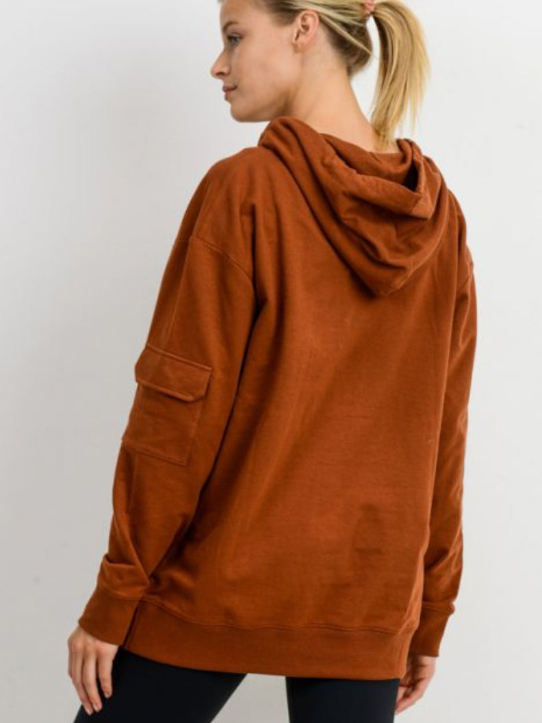 Home Team Oversized Terry Hoodie Burnt Orange