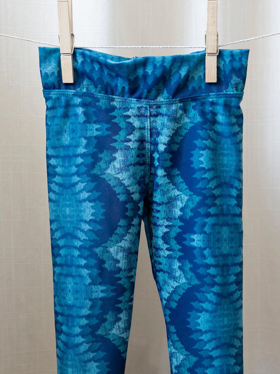 Kids Baja Leggings Blue Fantasy Print
