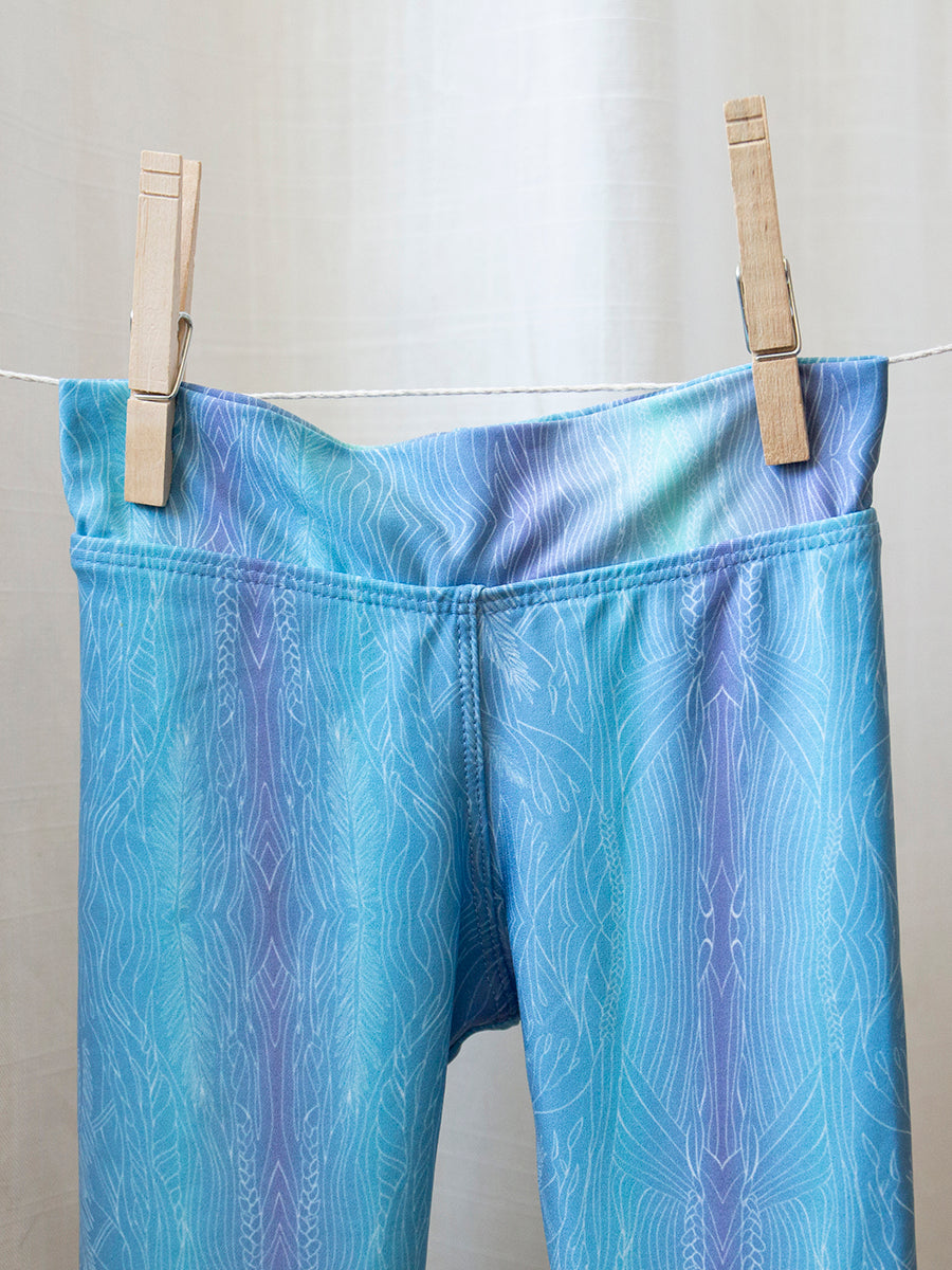 Kids Baja Leggings Mystic Sky Blue