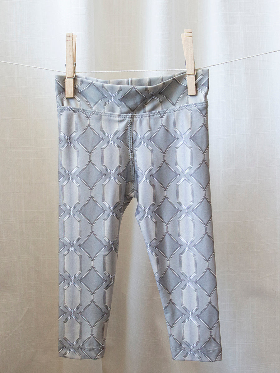 Kids Baja Leggings Grey Persuasion Print