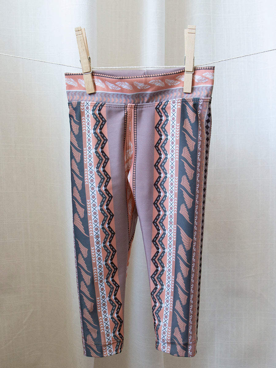 Kids Baja Leggings Peach Revival Print