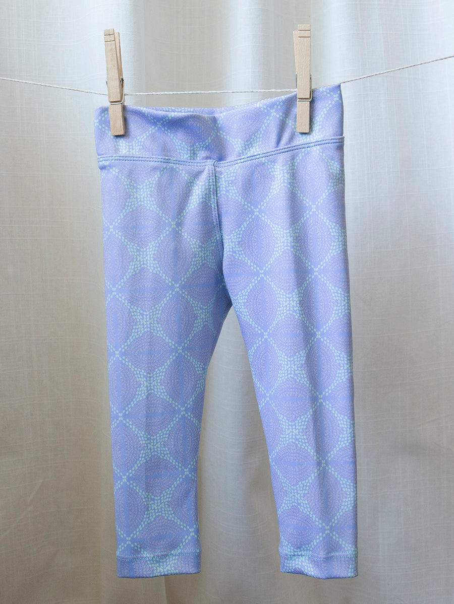 Kids Baja Leggings Lavender Revolution Print