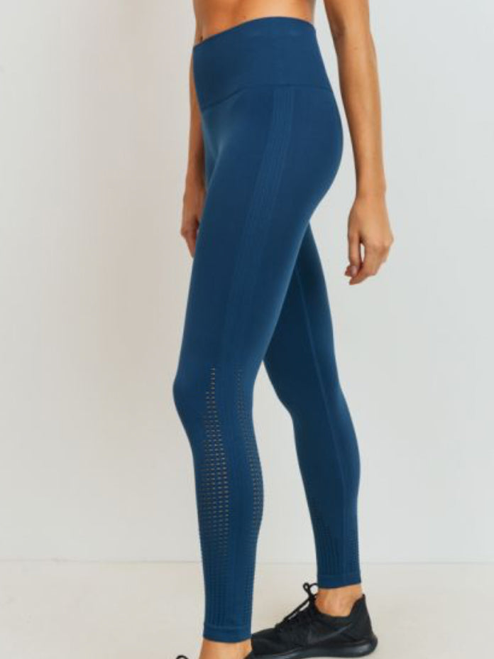 Cascade Seamless Lightweight Leggings Deep Ocean