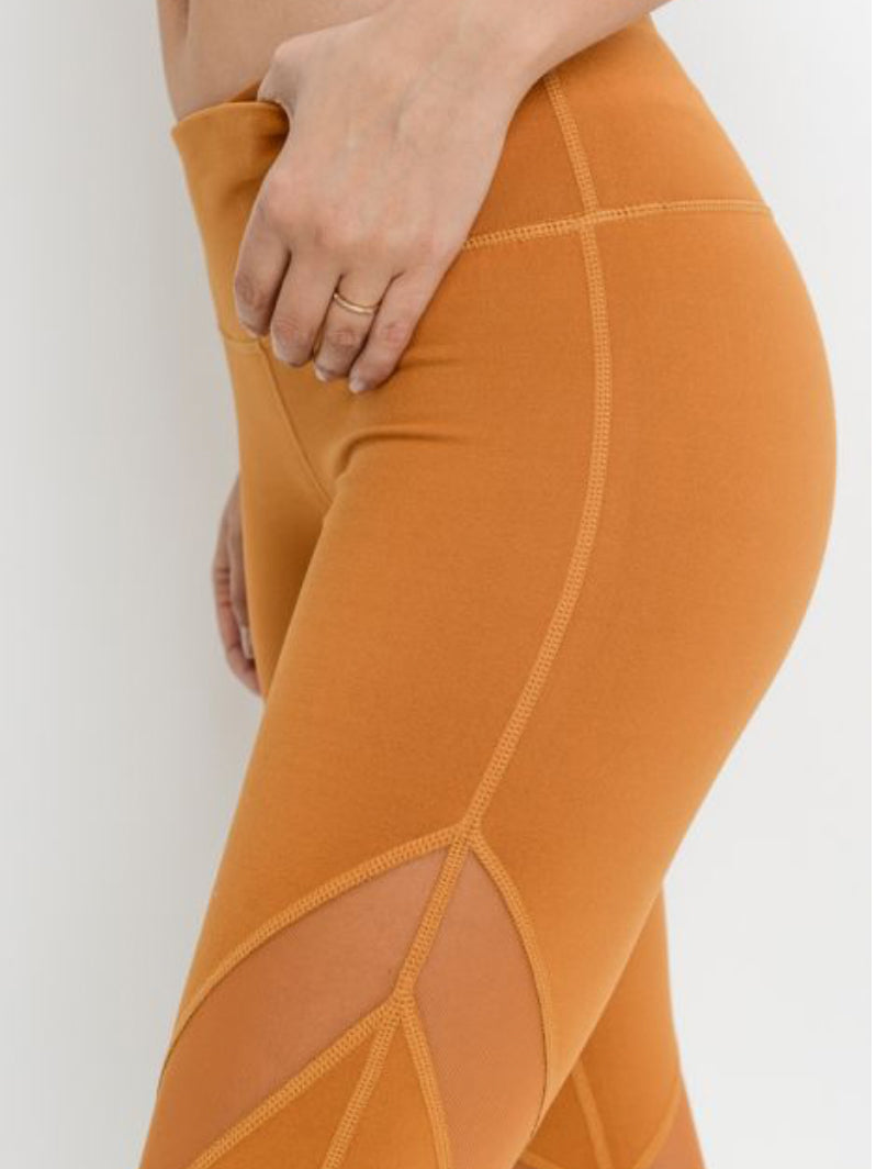 Local Leggings with Mesh Copper