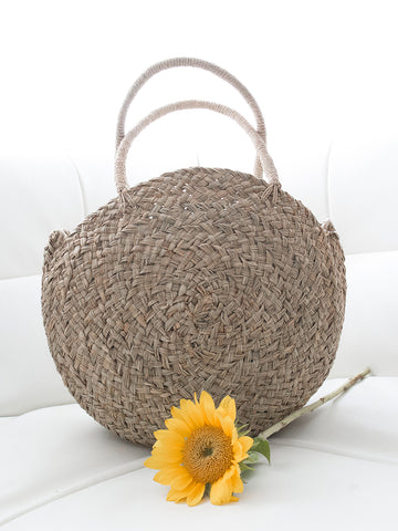 Stella Round Handwoven Bag Natural