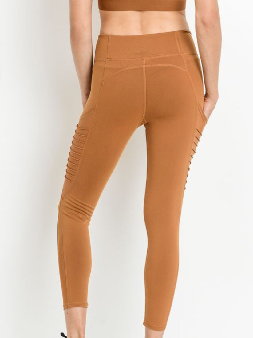 Austin Micro Crop Pocketed Leggings Copper