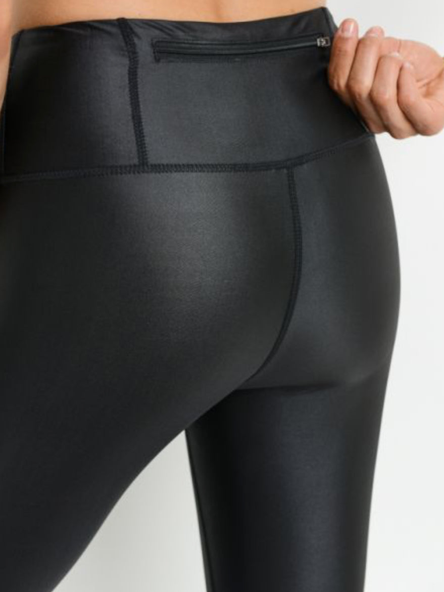 Downtown Leggings Glazed Black with Mesh